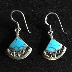 Turquoise/Sterling Silver Earrings